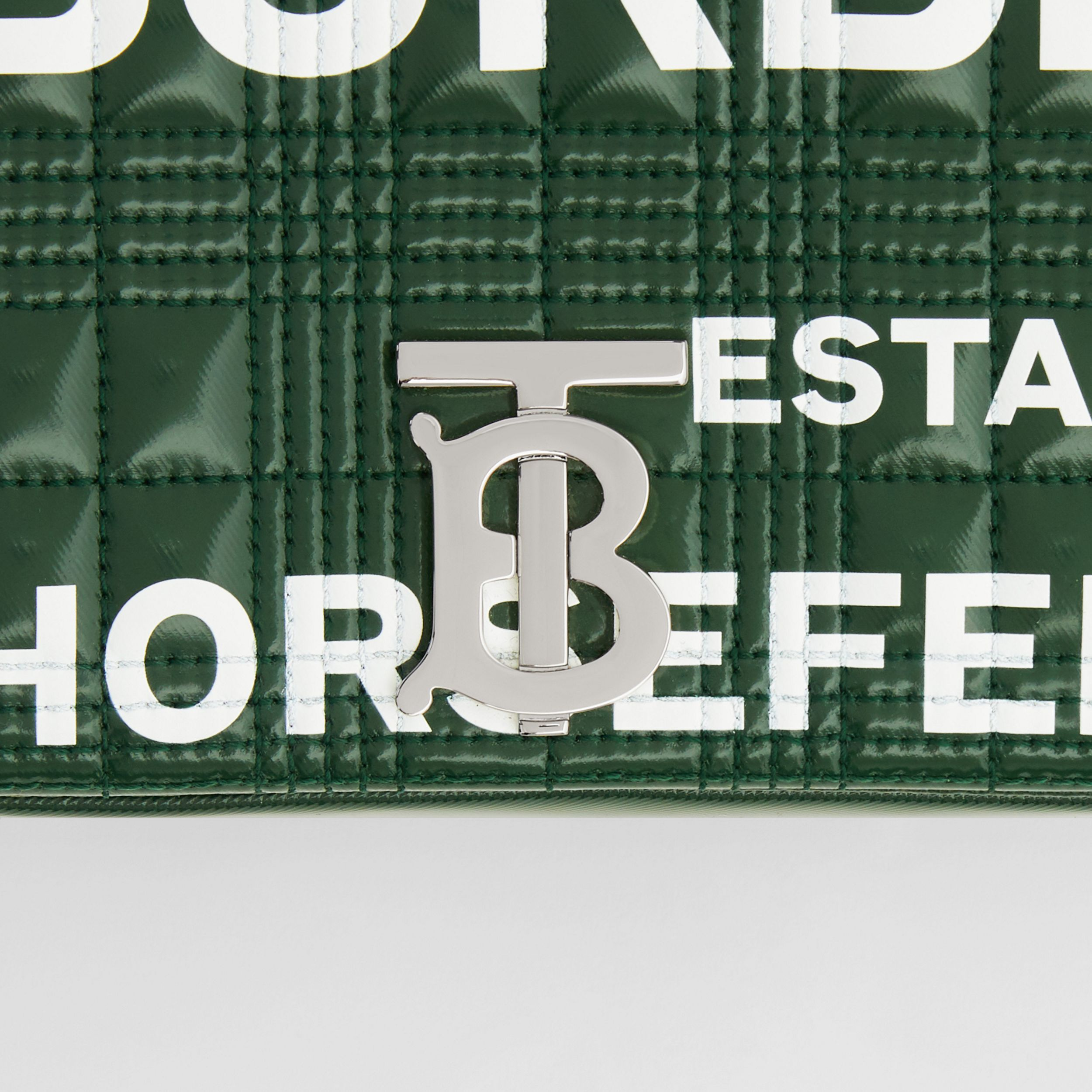 Small Horseferry Print Quilted Lola Bag in Dark Pine Green/white - Women | Burberry Canada - 2