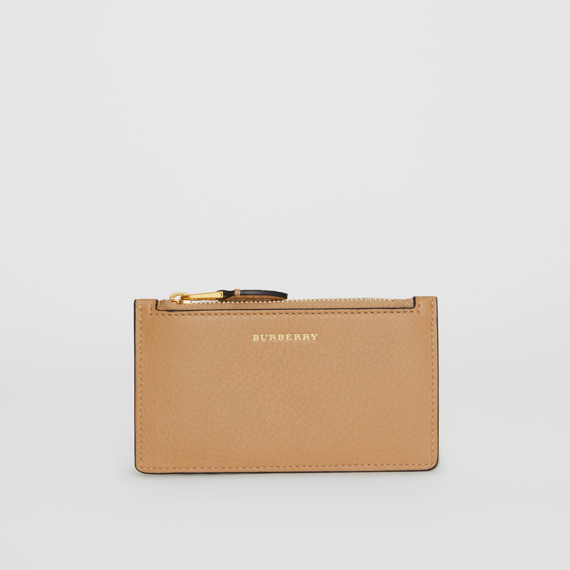 Two-tone Leather Card Case in Light Camel - Women | Burberry Singapore - gallery image 2
