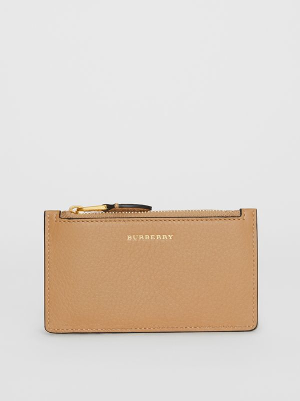 Two-tone Leather Card Case in Light Camel - Women | Burberry - cell image 2