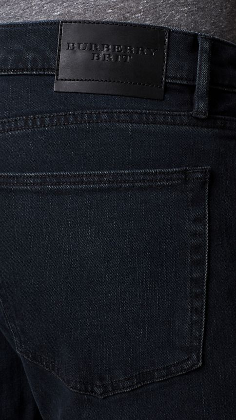 Deep indigo Straight Fit Washed Indigo Jeans - Image 4