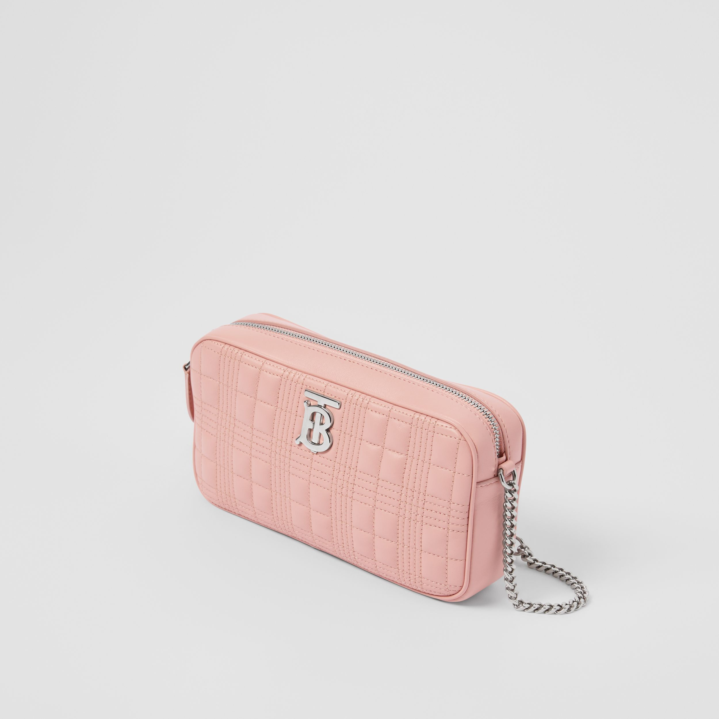 Quilted Lambskin Camera Bag in Blush Pink - Women | Burberry - 3