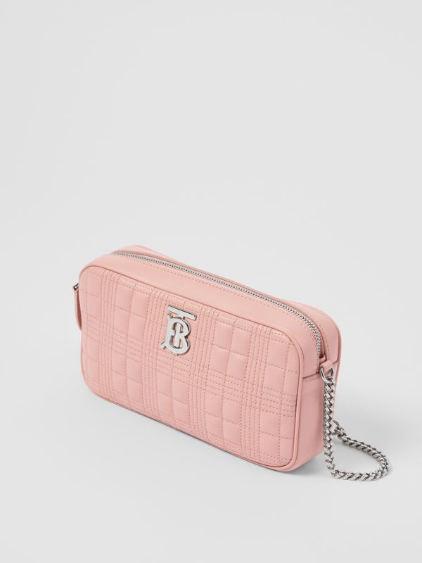 Quilted Lambskin Camera Bag in Blush Pink - Women | Burberry - cell image 2