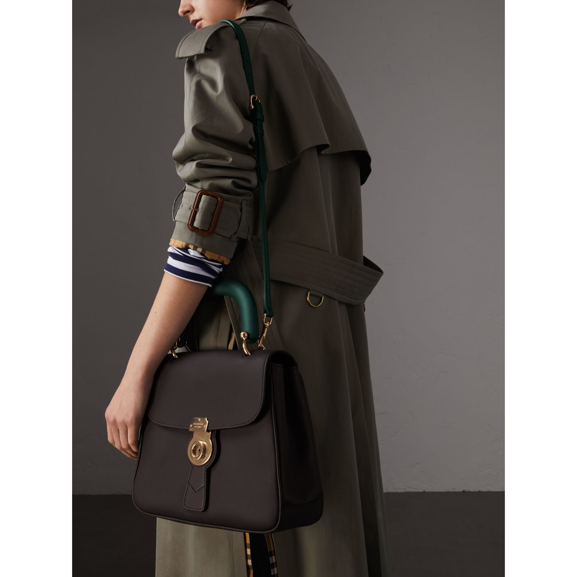 The Medium DK88 Top Handle Bag in Dark Chocolate - Women | Burberry United Kingdom - gallery image 3