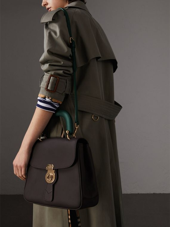 The Medium DK88 Top Handle Bag in Dark Chocolate - Women | Burberry Australia - cell image 3