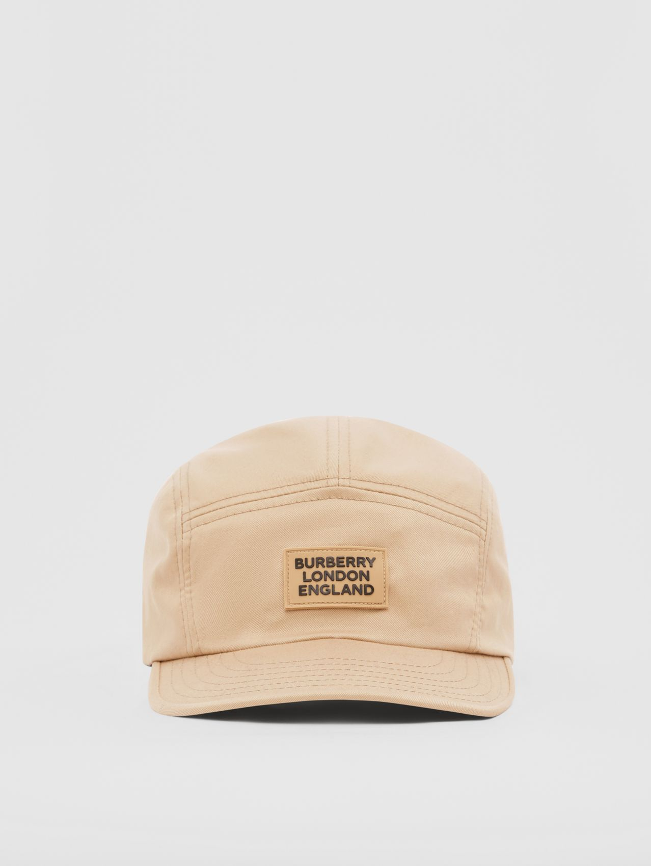 Logo Appliqué Cotton Twill Cap in Soft Fawn