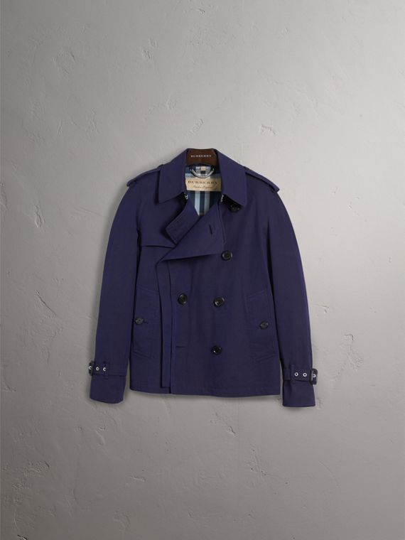 Unisex Tropical Gabardine Trench Jacket in Blueberry - Women | Burberry - cell image 3