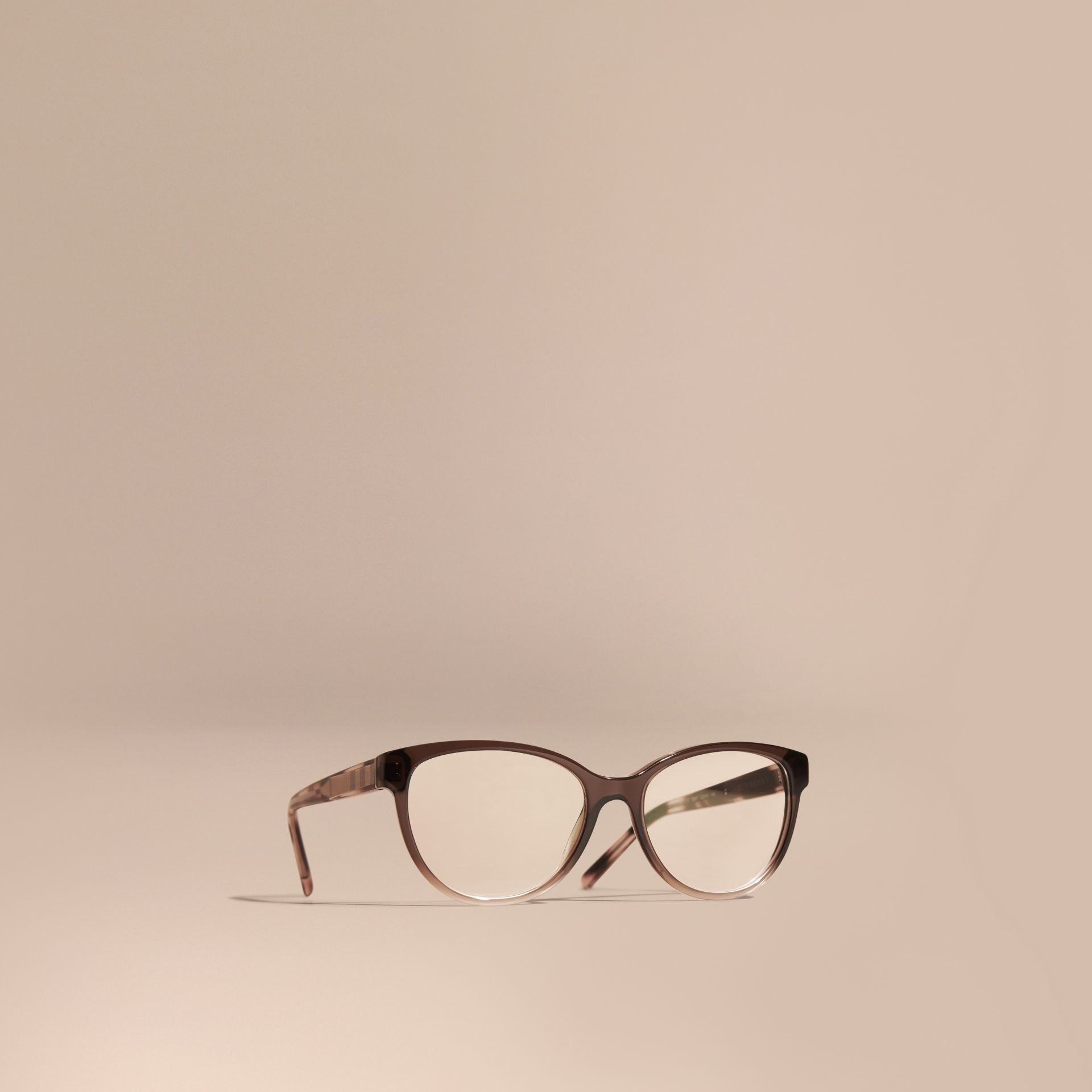 Check Detail Round Optical Frames Carnation Melange - gallery image 1