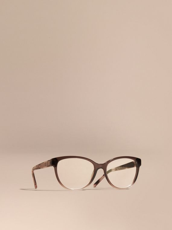 Check Detail Round Optical Frames Carnation Melange