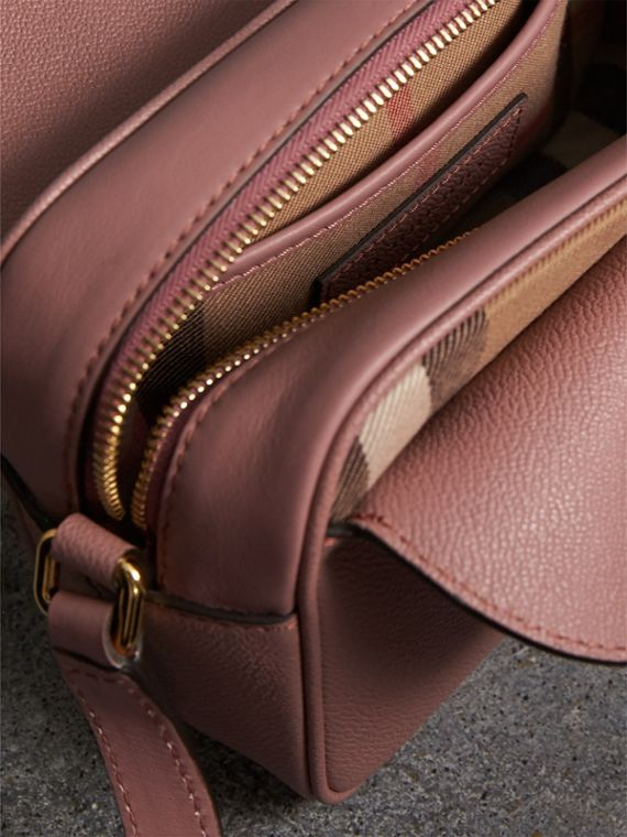 The Small Buckle Crossbody Bag in Leather in Dusty Pink - Women | Burberry Singapore - cell image 3