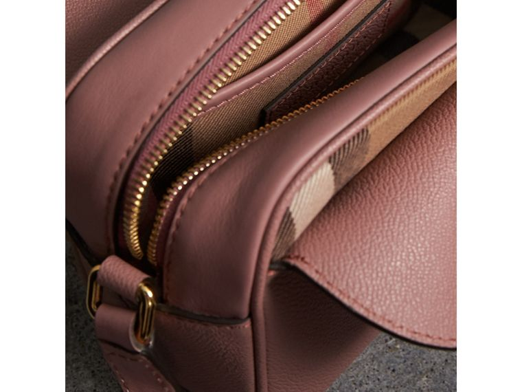The Small Buckle Crossbody Bag in Leather in Dusty Pink - Women | Burberry - cell image 4