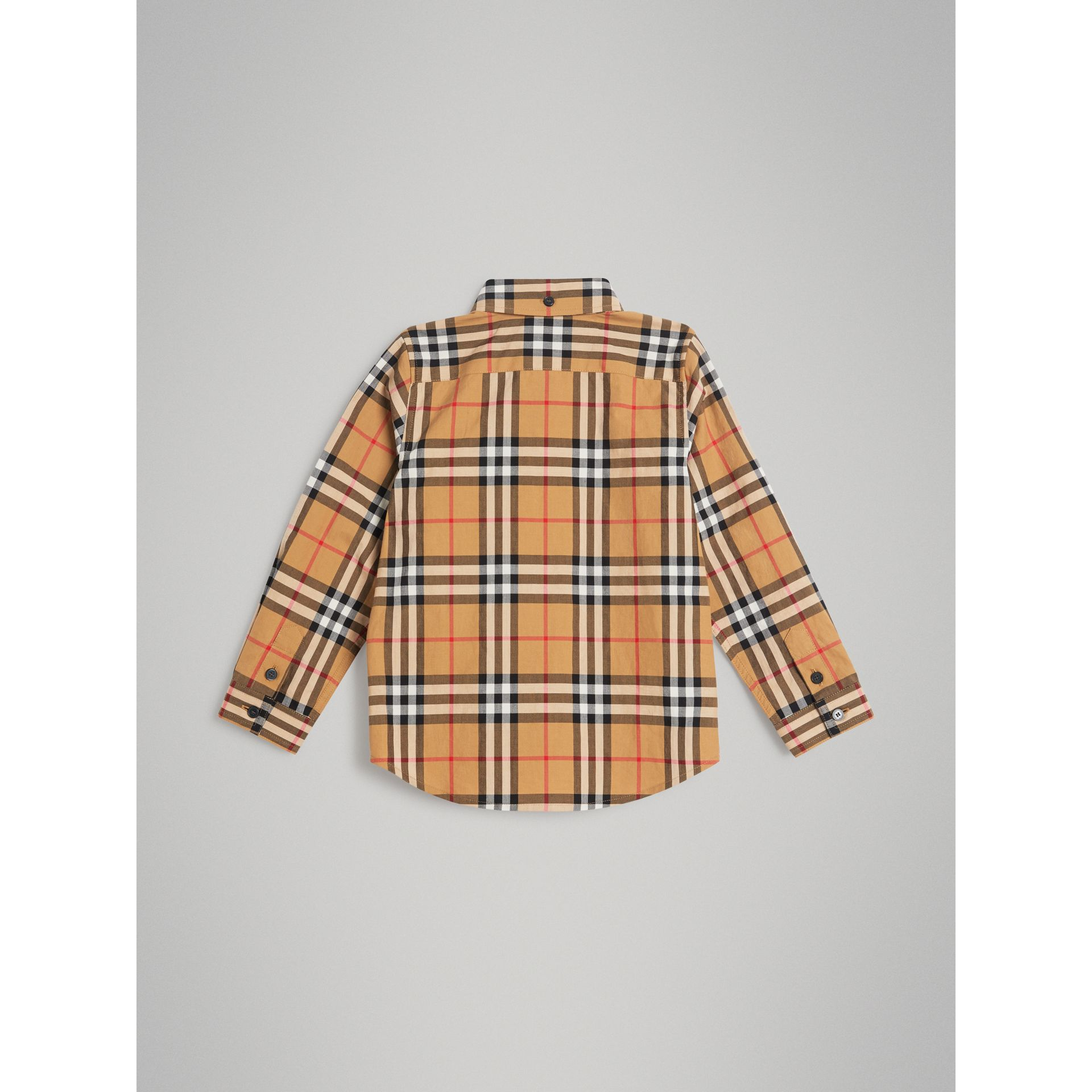 Button-down Collar Vintage Check Shirt in Antique Yellow - Boy | Burberry - gallery image 3