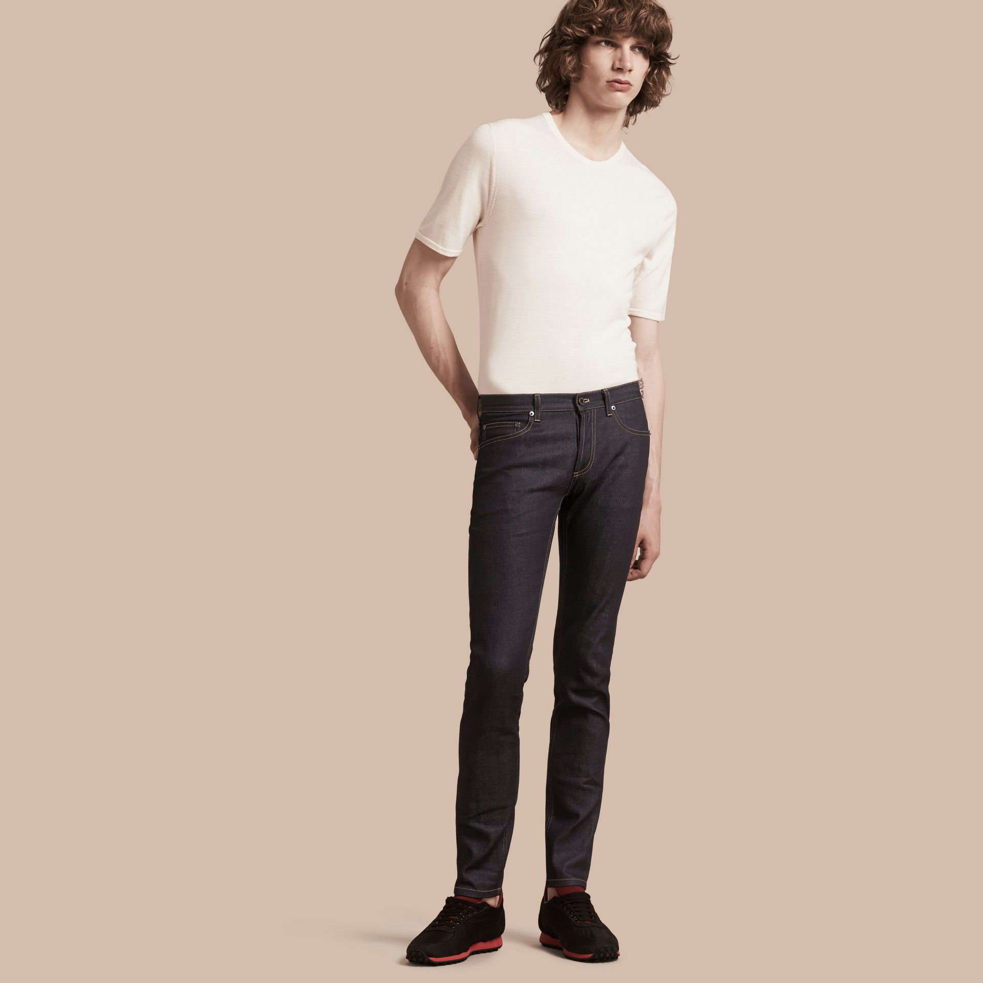 Indigo Slim Fit Japanese Denim Jeans Indigo - gallery image 1