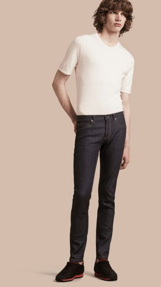 Jean slim en denim japonais