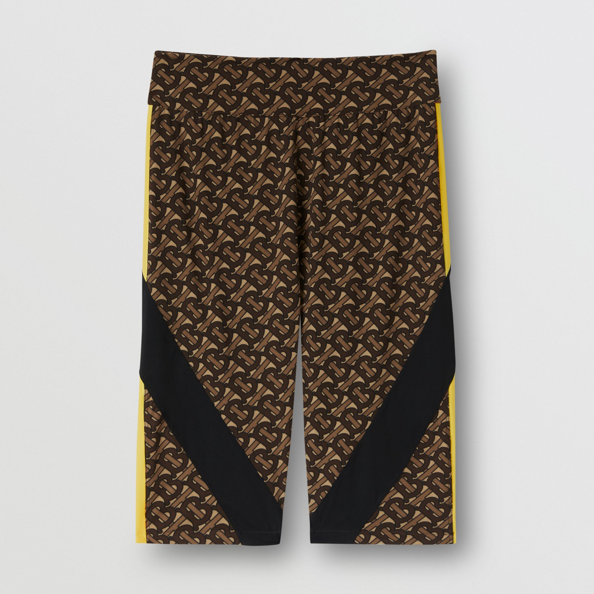 Colour Block Monogram Print Cycling Shorts in Bridle Brown - Women   Burberry United Kingdom - gallery image 3