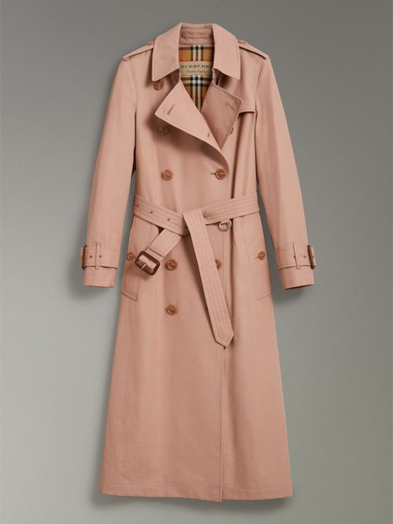 Tropical Gabardine Trench Coat in Pink Apricot - Women | Burberry Singapore - cell image 3