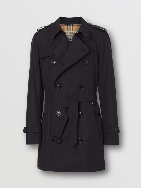 Short Chelsea Fit Trench Coat in Midnight - Men | Burberry - cell image 3