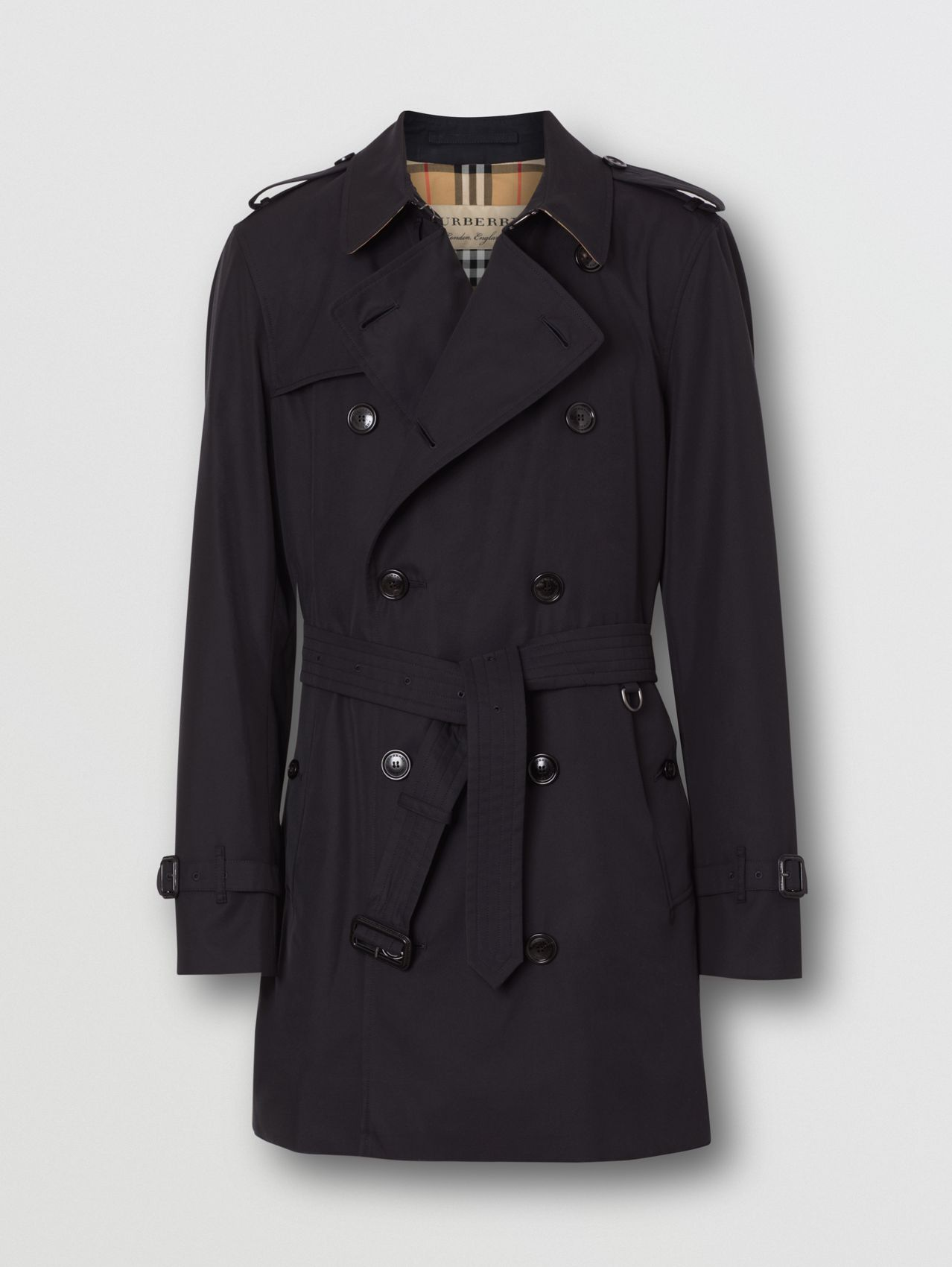 Short Chelsea Fit Trench Coat in Midnight Navy