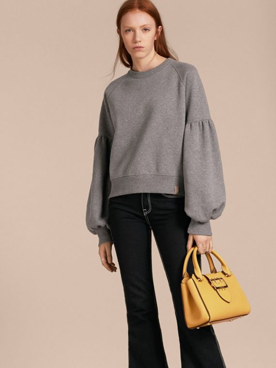 The Small Buckle Tote in Grainy Leather - cell image 3