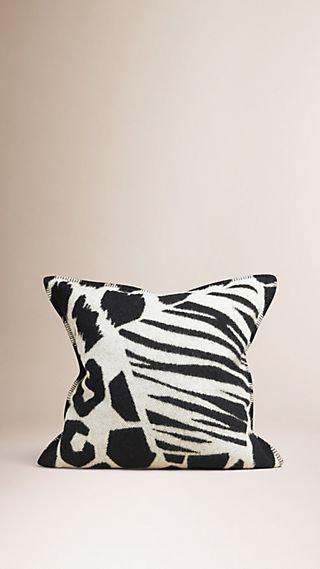 Animal Print Wool Cashmere Cushion Cover