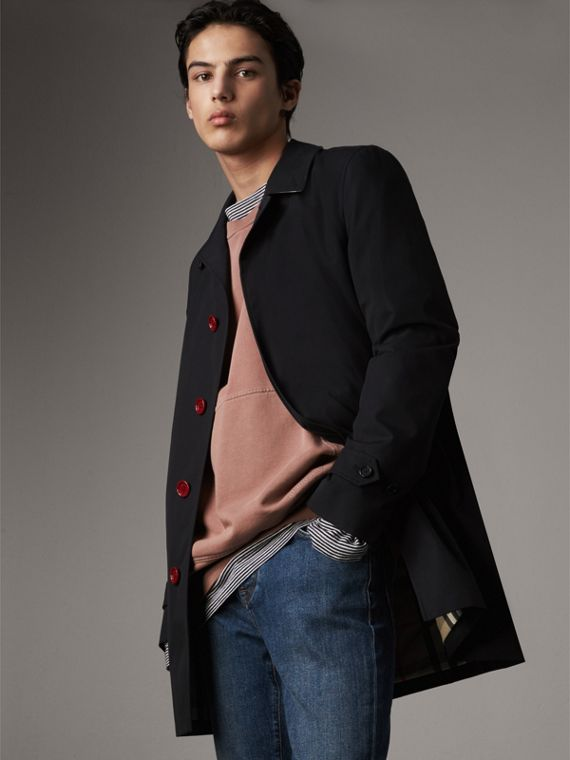 Resin Button Cotton Gabardine Car Coat - Men | Burberry