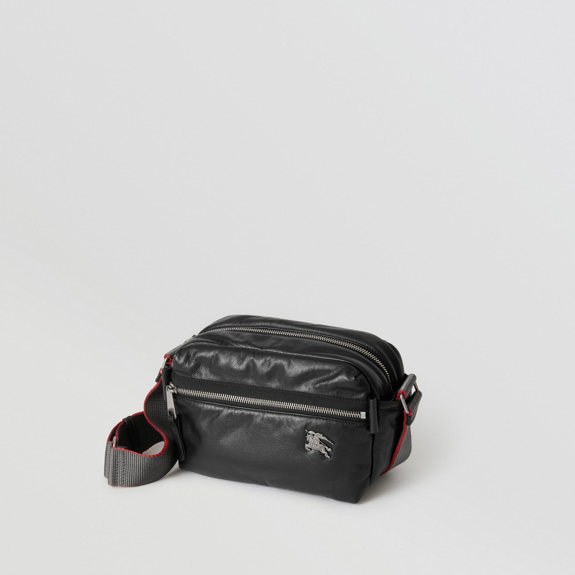 Bolsa transversal em couro nappa com emblema Equestrian Knight (Preto) - Homens | Burberry - galeria de imagens 2