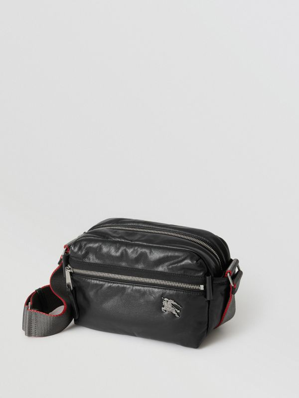 EKD Nappa Leather Crossbody Bag in Black - Men | Burberry United Kingdom - cell image 2