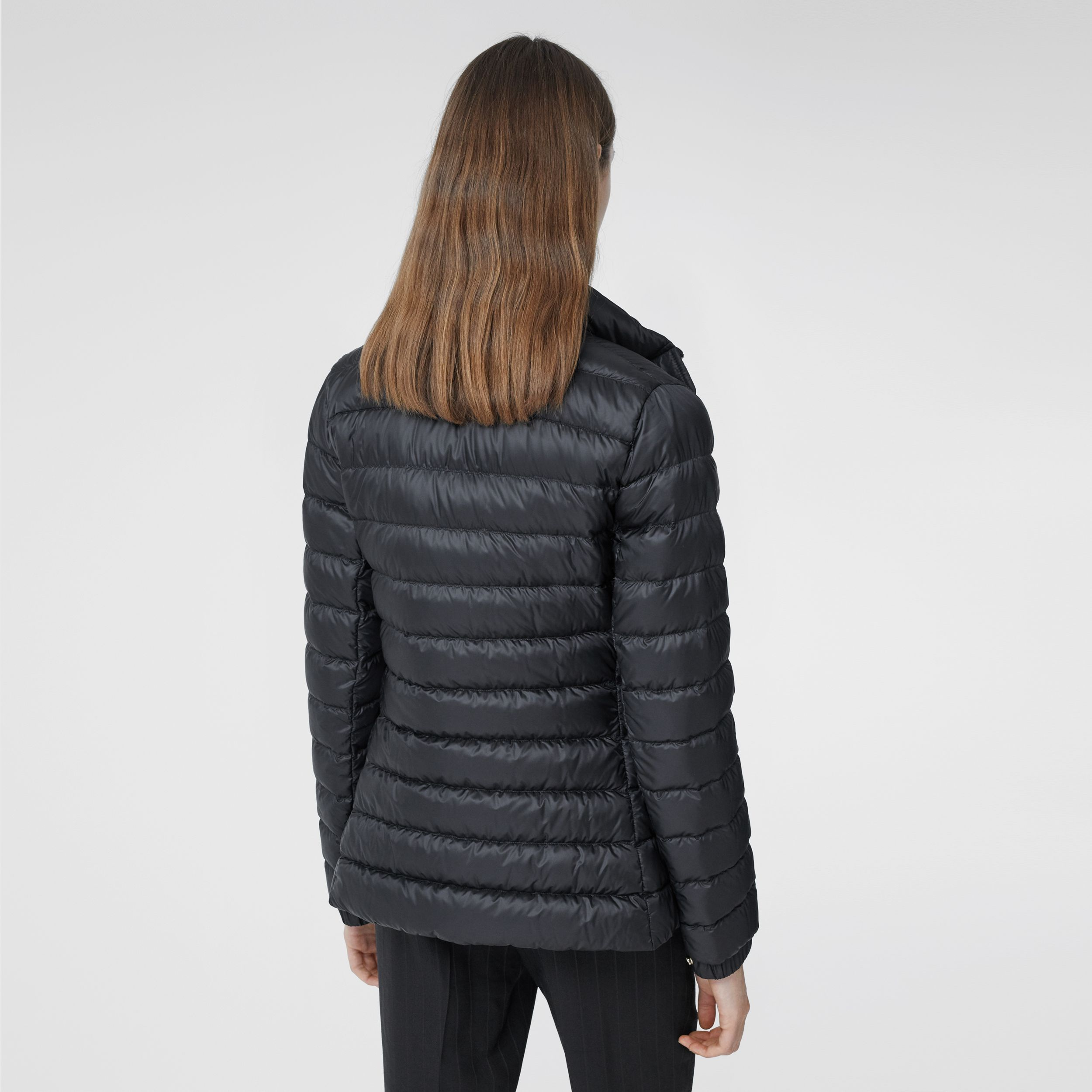 Monogram Print-lined Lightweight Puffer Jacket in Black - Women | Burberry - 3