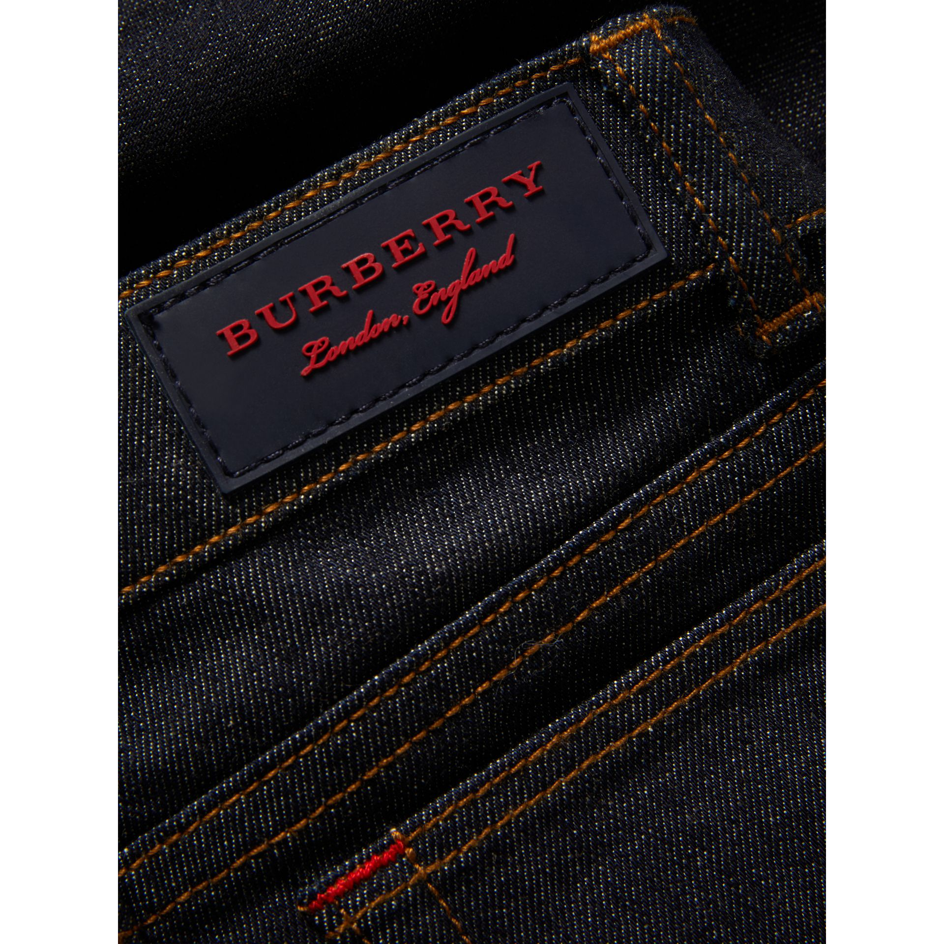 Skinny Fit Stretch Jeans in Dark Indigo | Burberry - gallery image 1