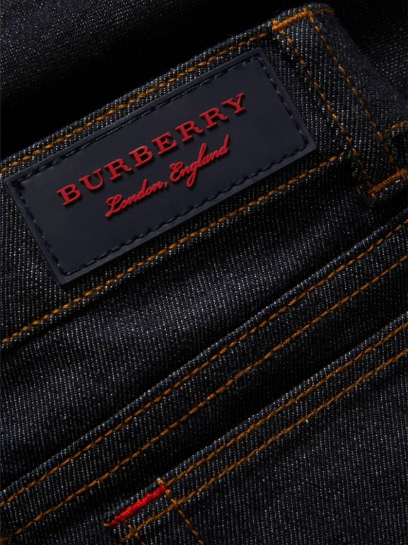 Skinny Fit Stretch Jeans in Dark Indigo | Burberry United Kingdom - cell image 1
