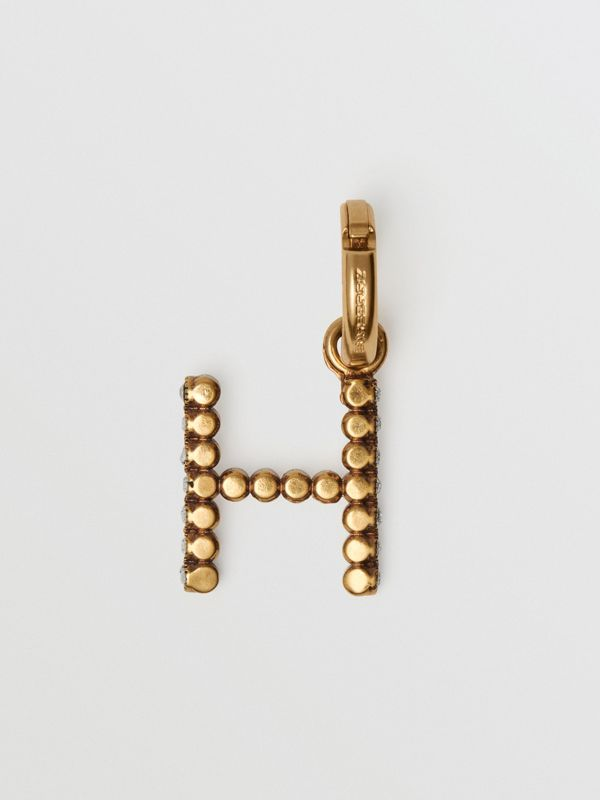 Crystal 'H' Alphabet Charm - Women | Burberry - cell image 3