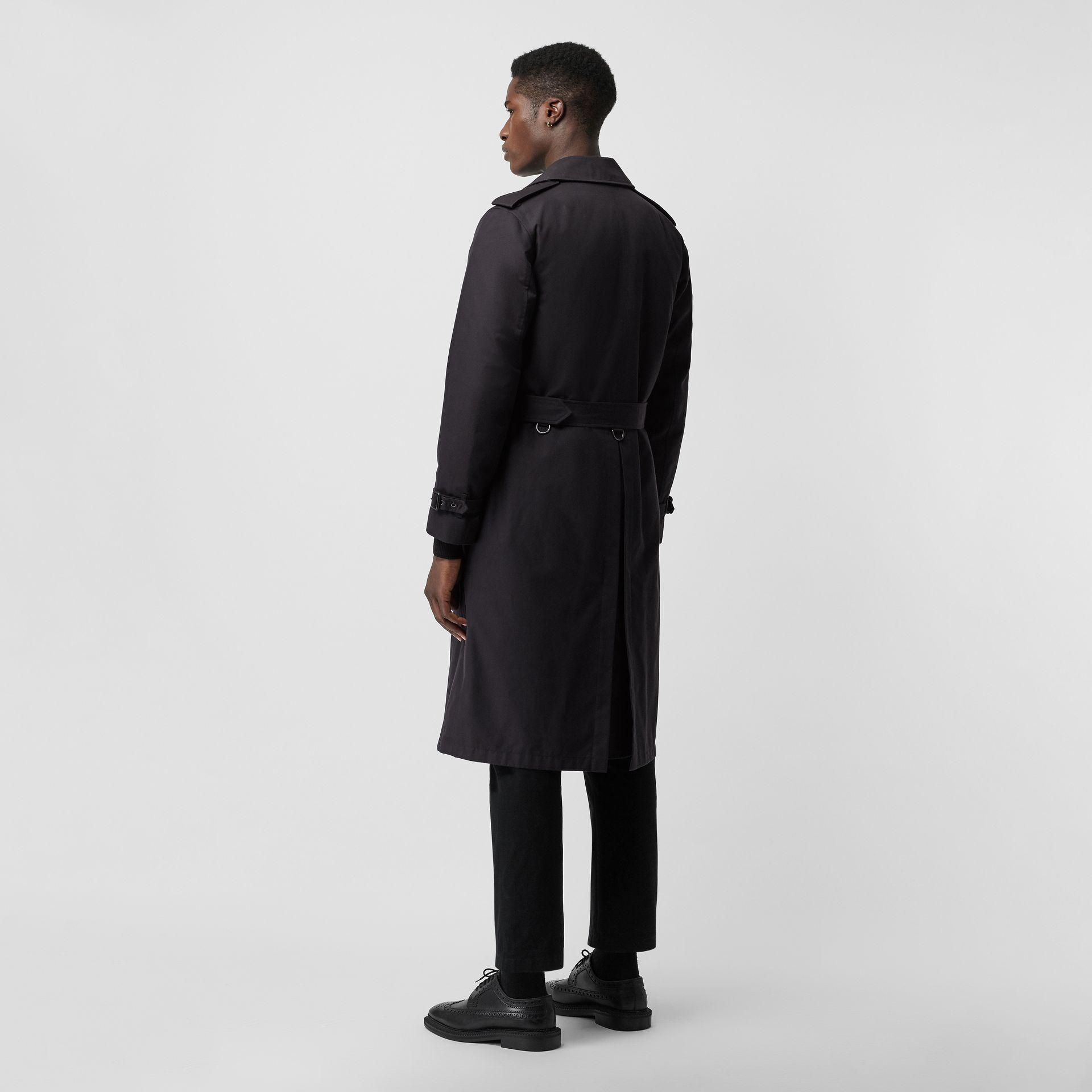 Cotton Gabardine Trench Coat with Warmer in Midnight - Men | Burberry - gallery image 2
