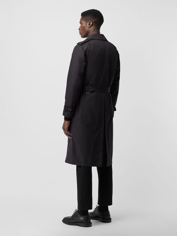 Cotton Gabardine Trench Coat with Warmer in Midnight - Men | Burberry - cell image 2