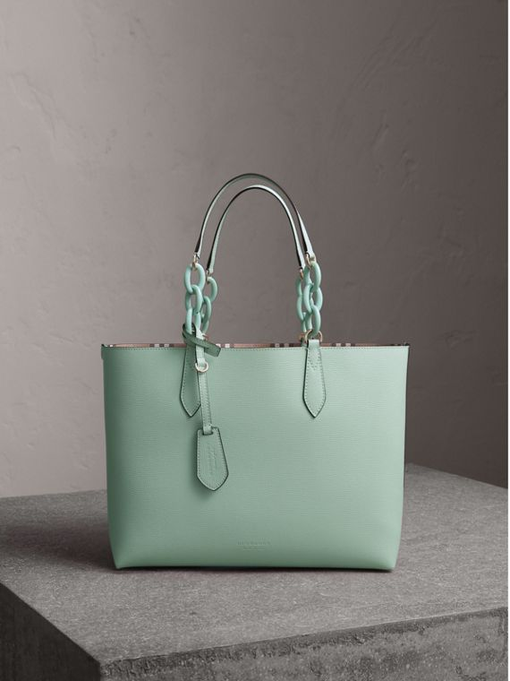 The Small Reversible Tote with Resin Chain