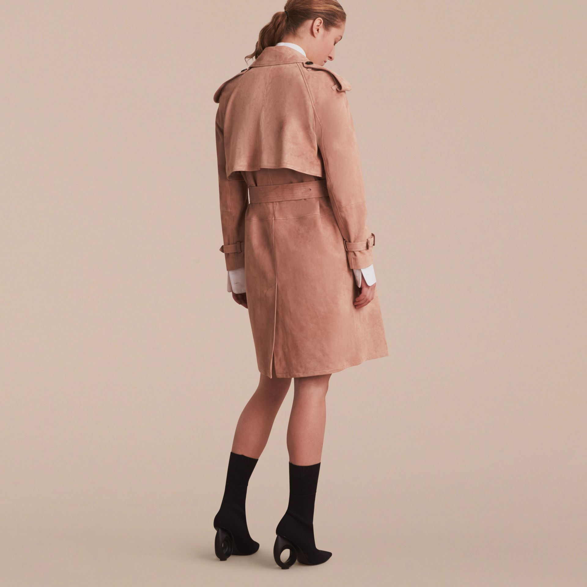 Suede Wrap Trench Coat - Women | Burberry - gallery image 3
