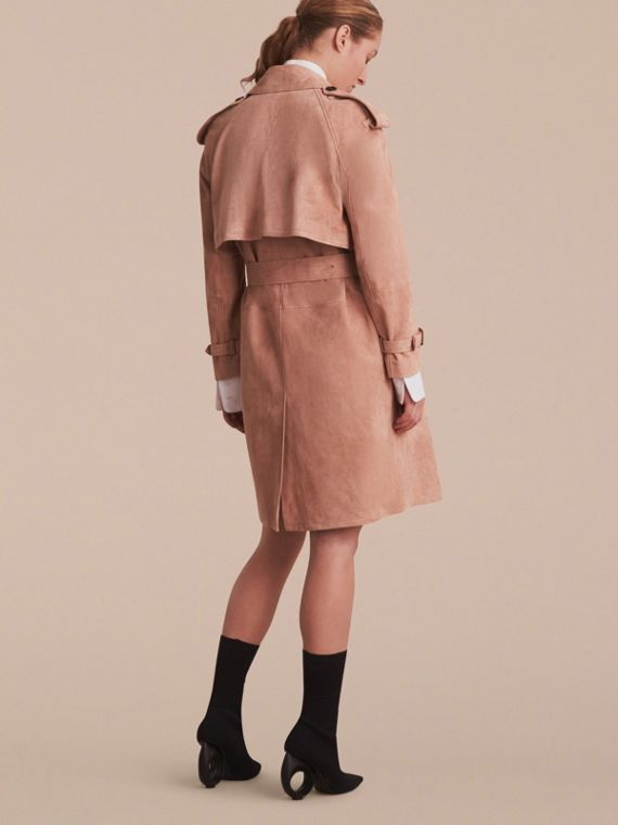 Suede Wrap Trench Coat - Women | Burberry - cell image 2