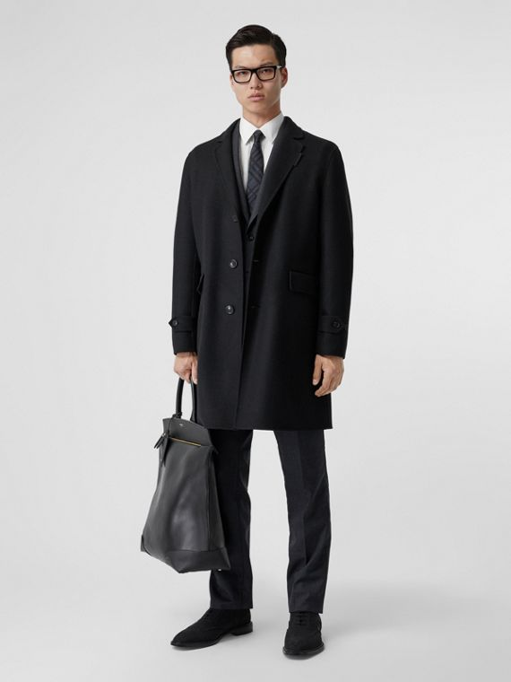 Wool Cashmere Lab Coat in Black