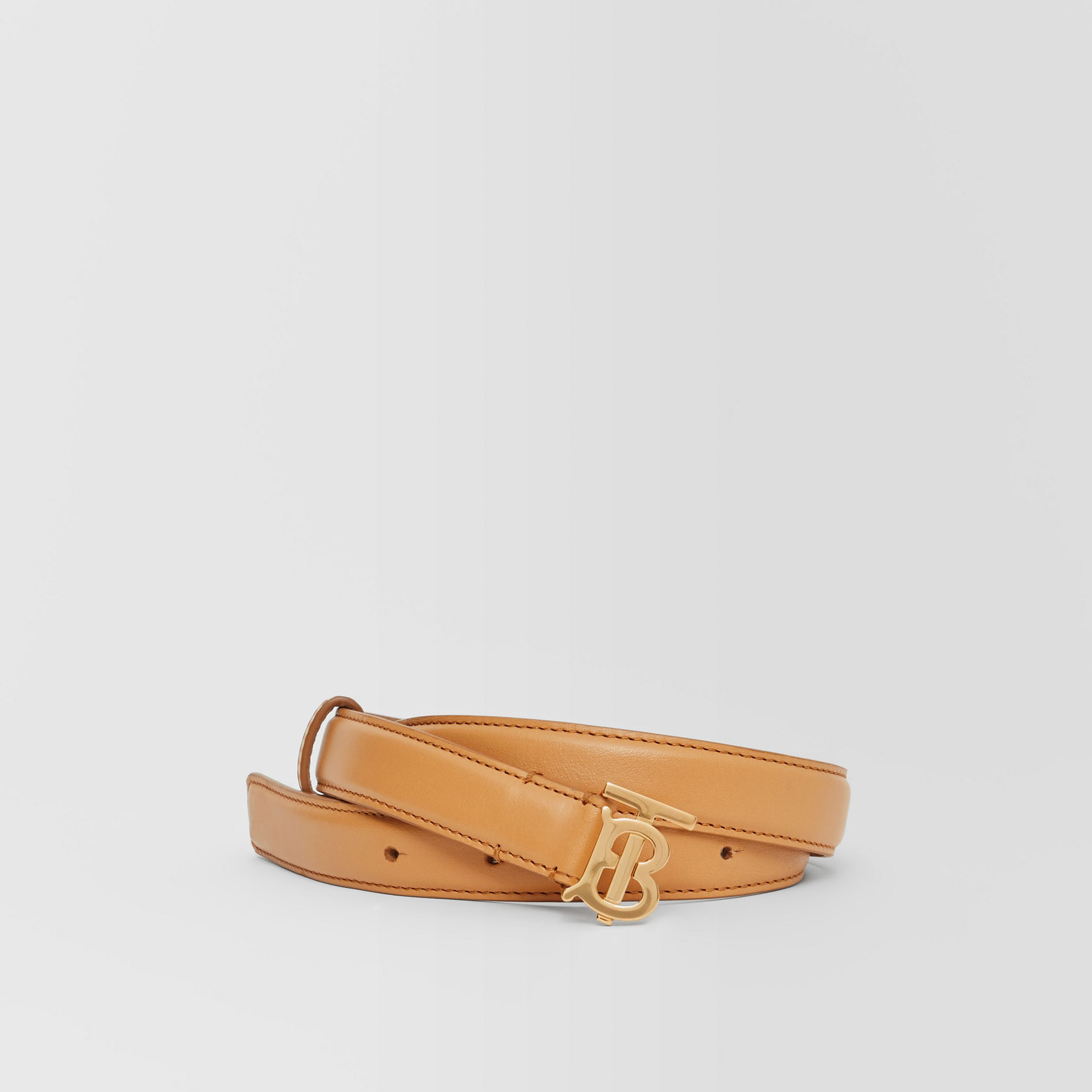 Monogram Motif Leather Belt in Warms Sand - Women | Burberry Hong Kong S.A.R. - 1