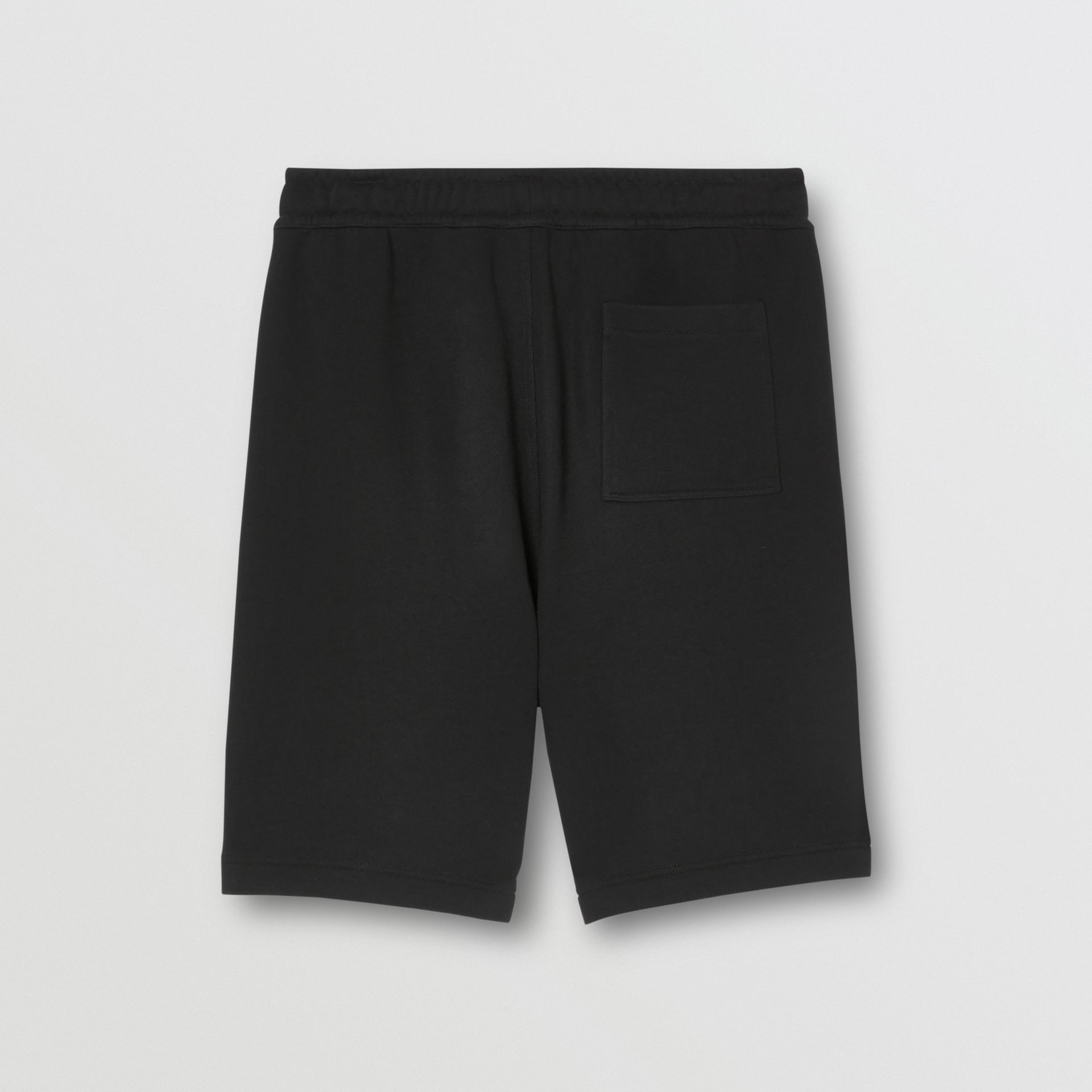 Logo Graphic Cotton Drawcord Shorts in Black - Men | Burberry United Kingdom - gallery image 5