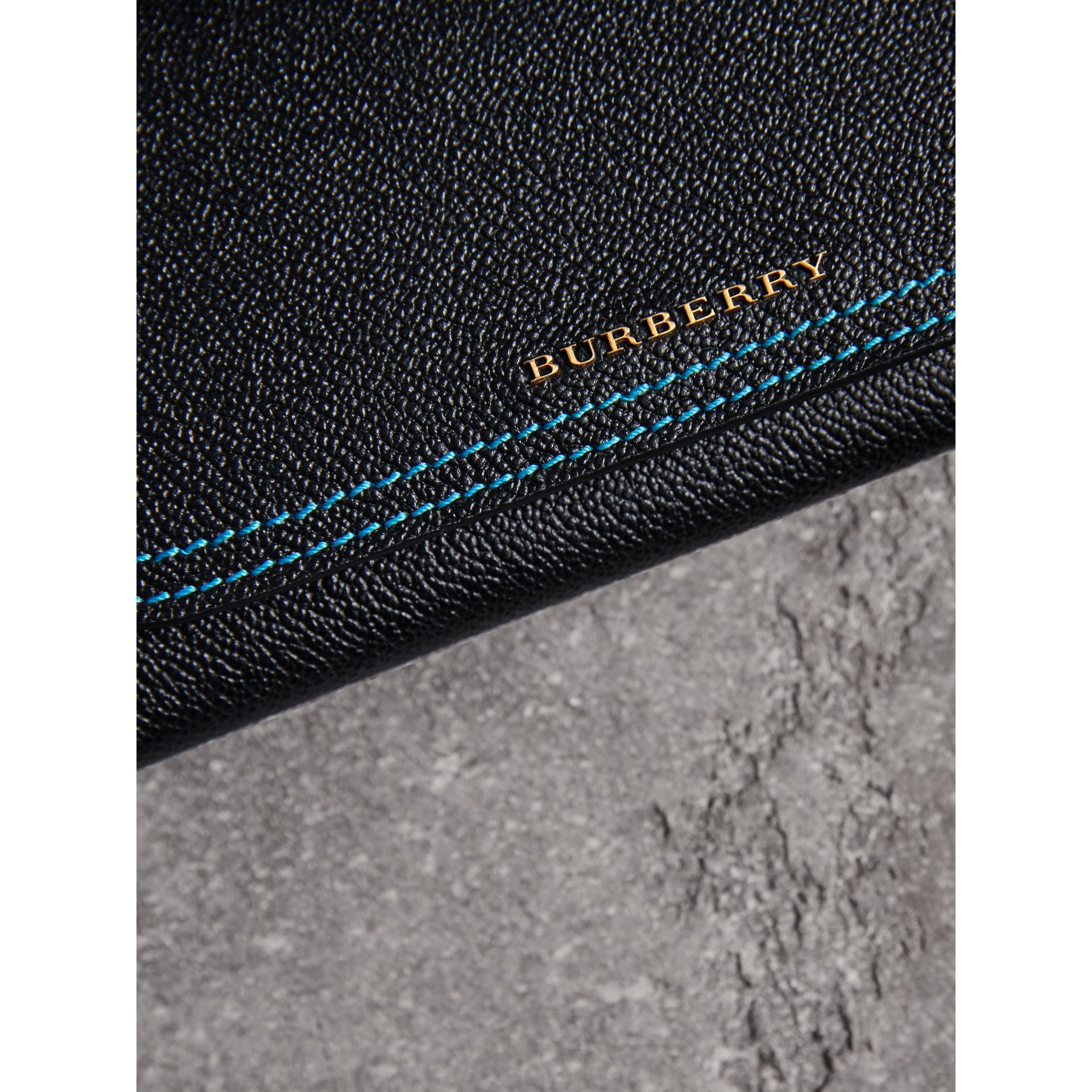 Colour Block Continental Wallet and Coin Case in Black/multicolour - Women | Burberry - gallery image 1