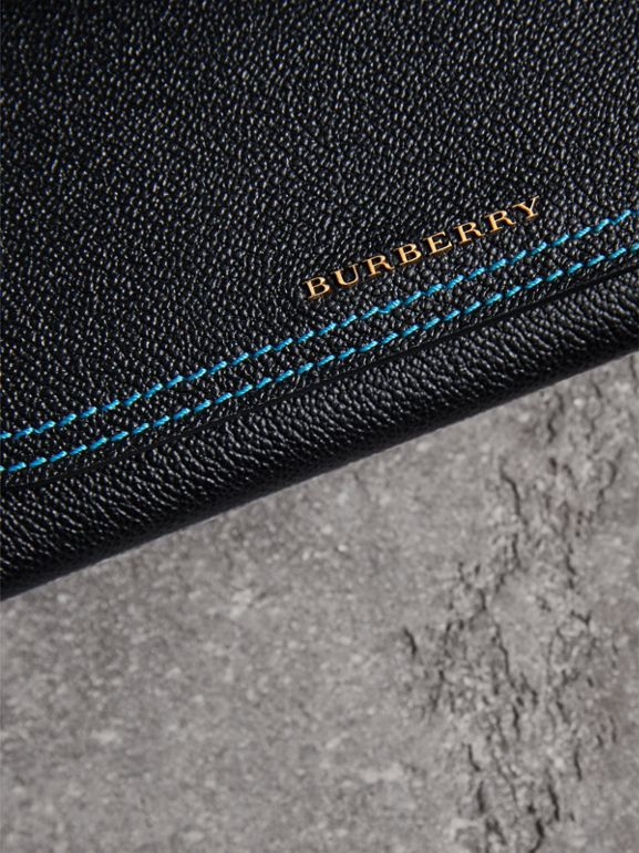 Colour Block Continental Wallet and Coin Case in Black/multicolour - Women | Burberry United Kingdom - cell image 1