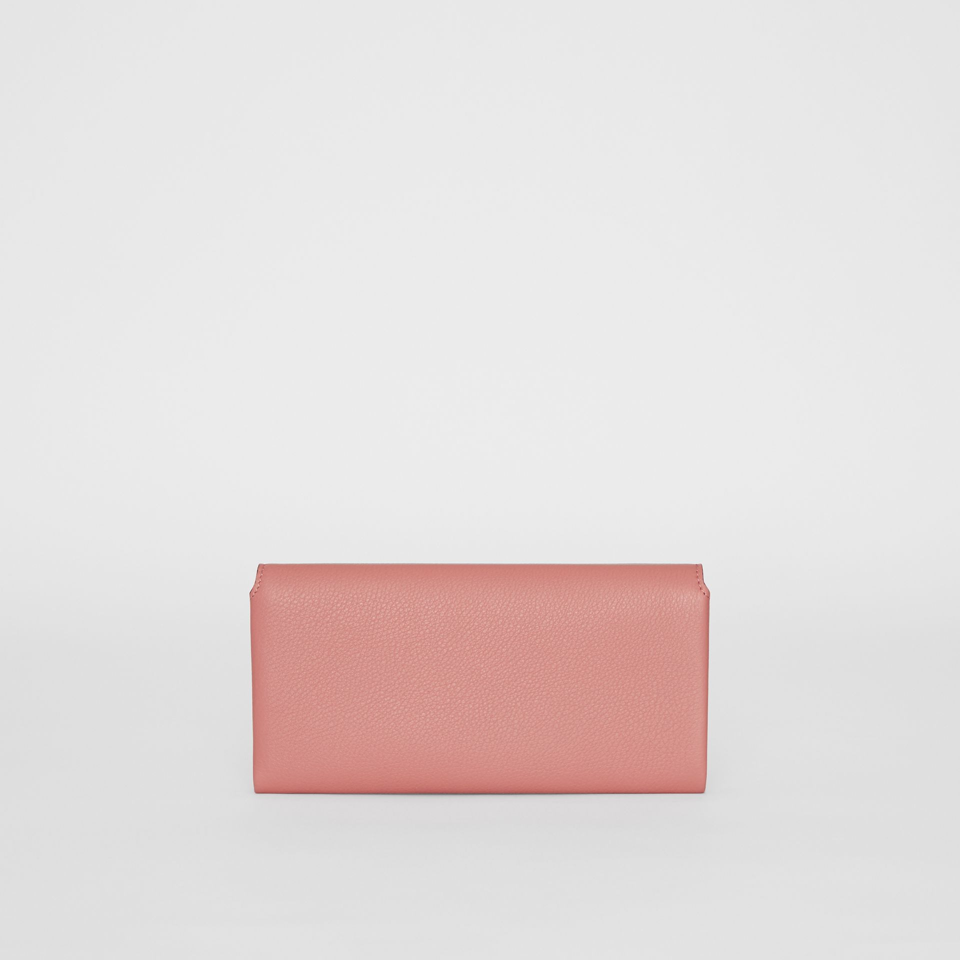 Two-tone Leather Continental Wallet in Dusty Rose - Women | Burberry - gallery image 2