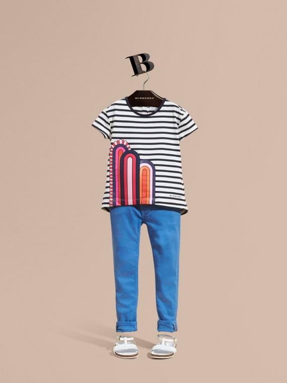 Skinny Fit Jeans Hydrangea Blue
