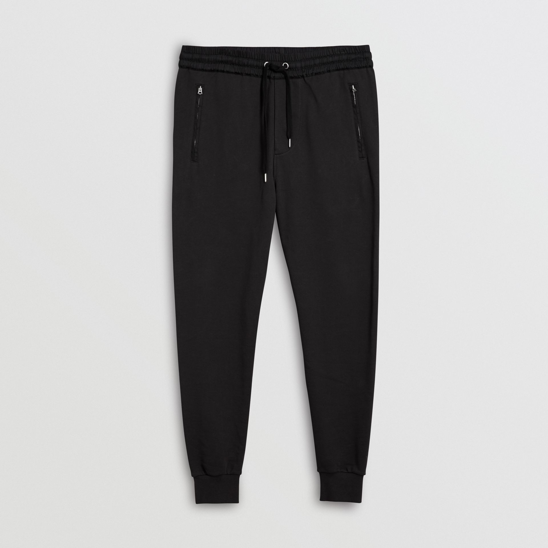 Cotton Sweatpants in Black - Men | Burberry - gallery image 3