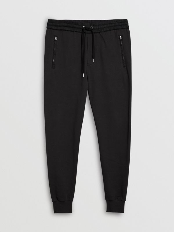 Cotton Sweatpants in Black - Men | Burberry Hong Kong - cell image 3