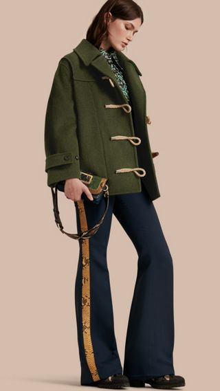 Military Wool Duffle Coat