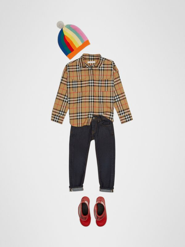 Vintage Check Cotton Shirt in Antique Yellow - Children | Burberry - cell image 2