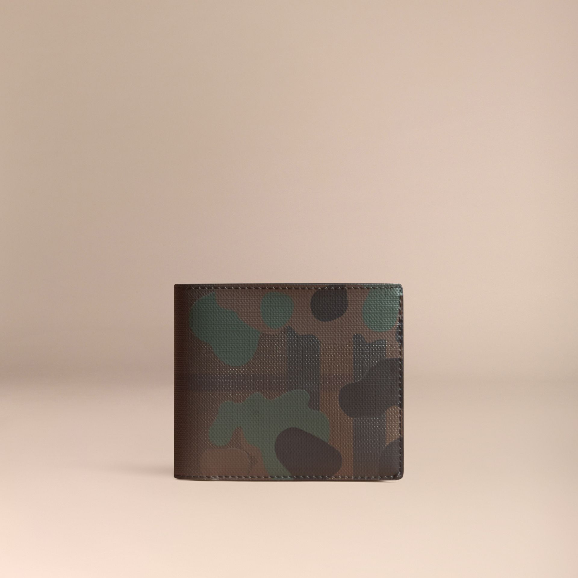 Chocolate/camouflage Camouflage and London Check Folding Wallet - gallery image 6
