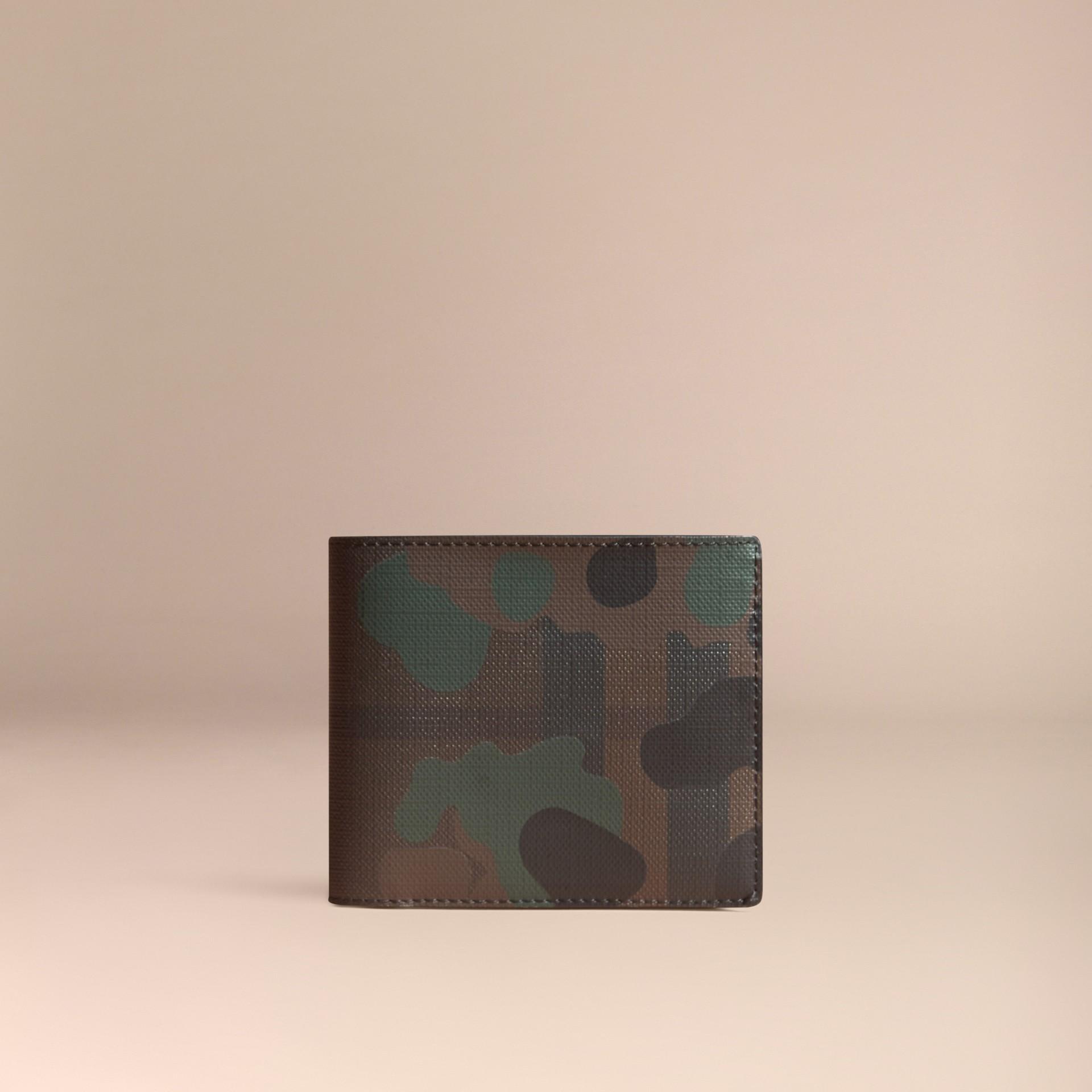 チョコレート/カモフラージュ カモフラージュ&ロンドンチェック フォールディングウォレット - ギャラリーイメージ 6