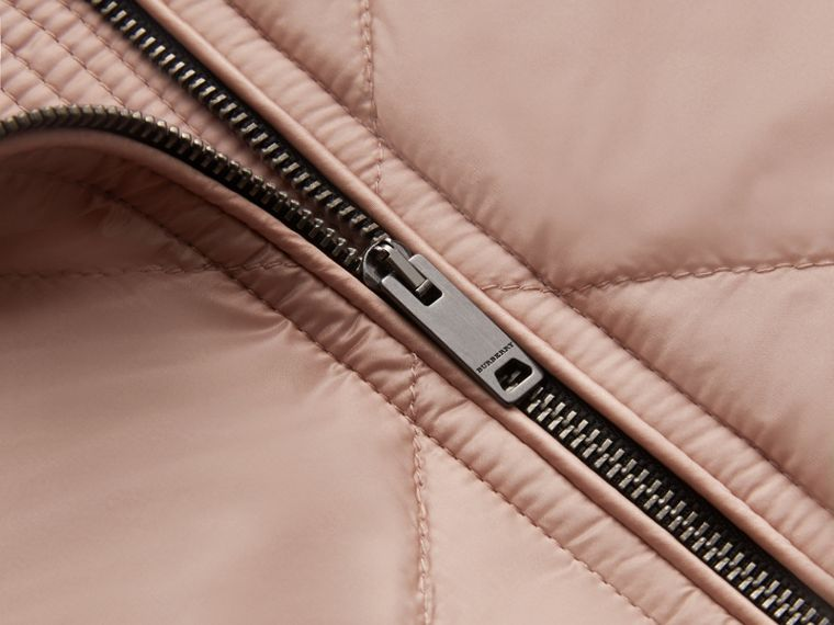 Collarless Diamond Quilted Lightweight Jacket in Nude - Women | Burberry - cell image 1