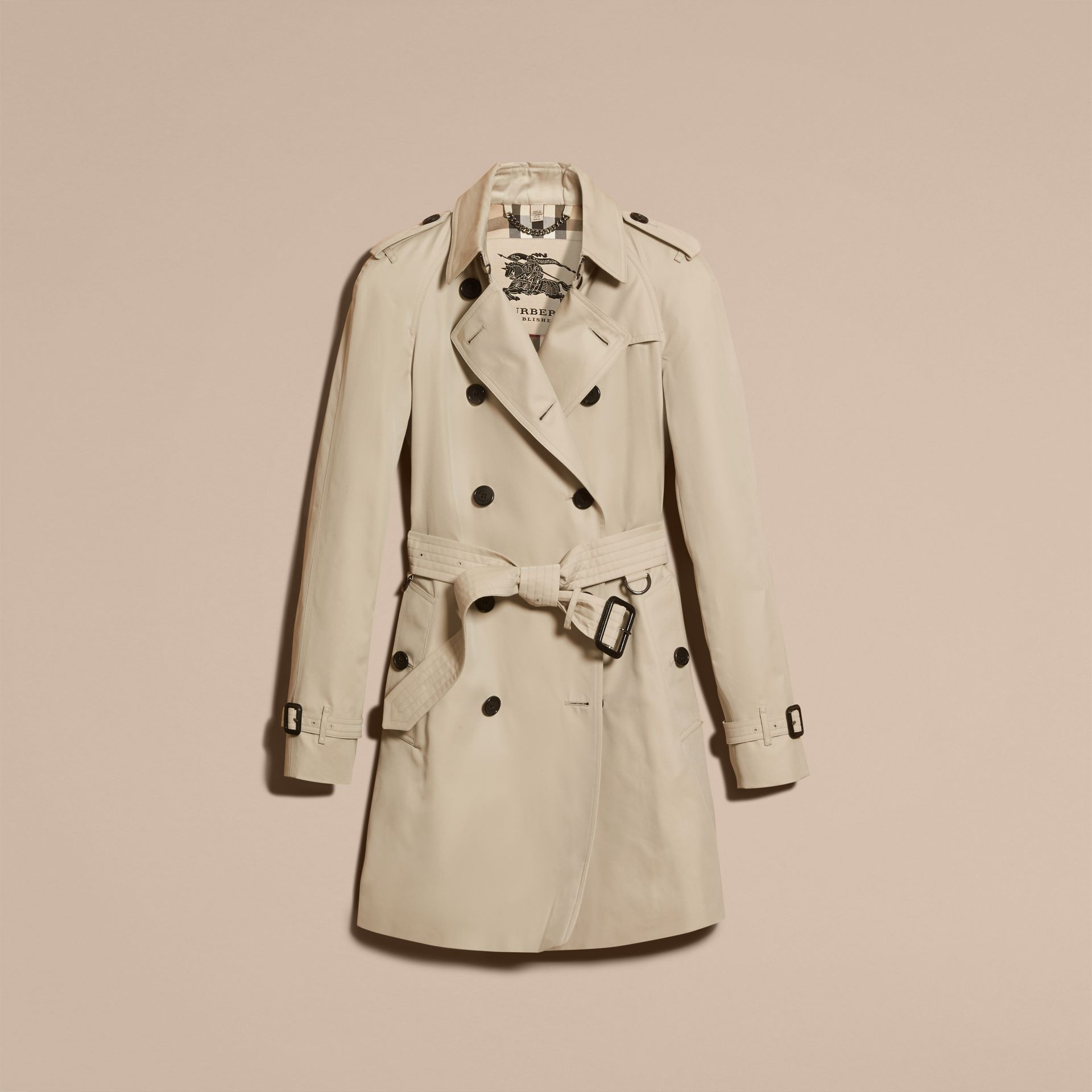 Stone The Westminster – Mid-Length Heritage Trench Coat Stone - gallery image 4